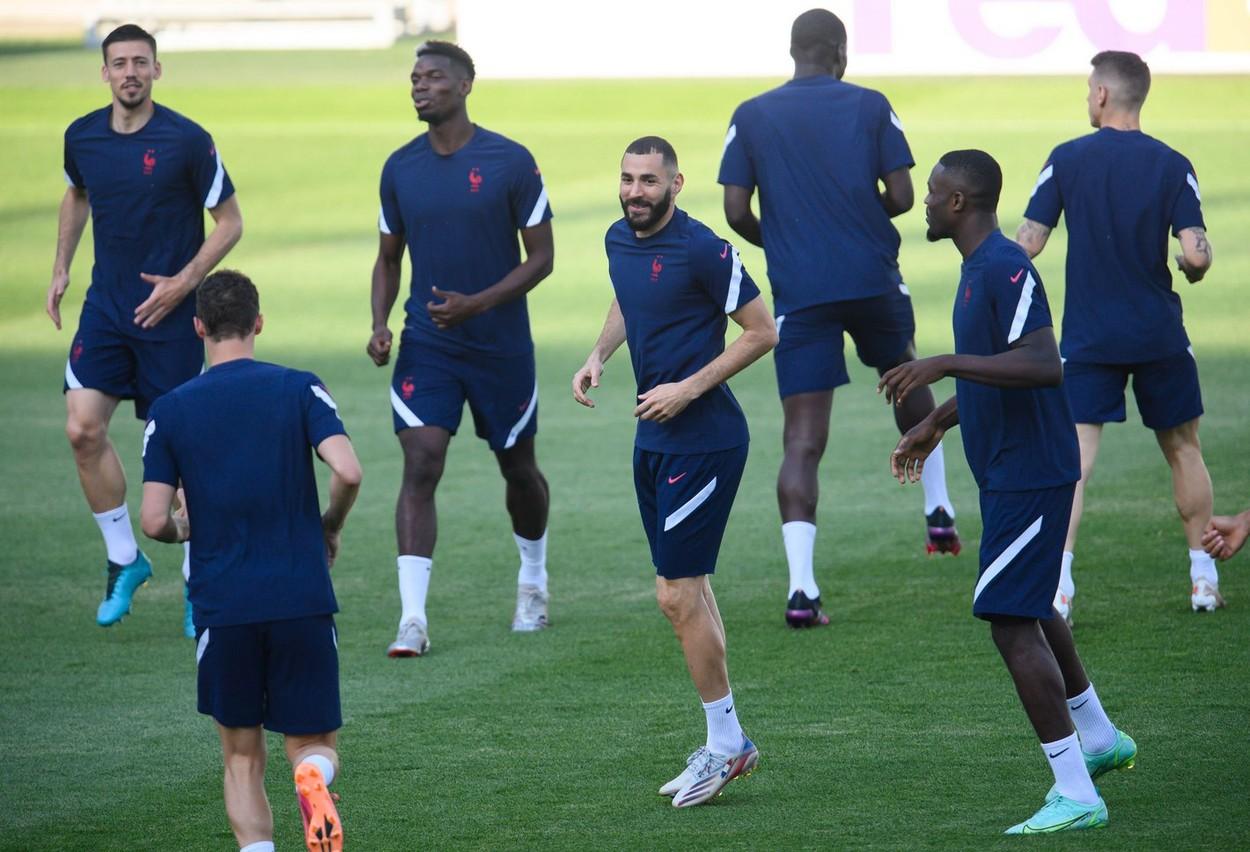 Franţa, primul antrenament la București