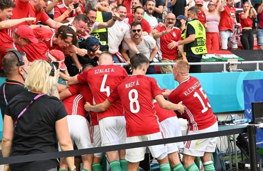 Euro 2020 | Fază virală la Ungaria – Franţa! Attila Fiola a marcat şi a dat cu pumnii în masa unei jurnaliste + Atmosferă nebună la Budapesta