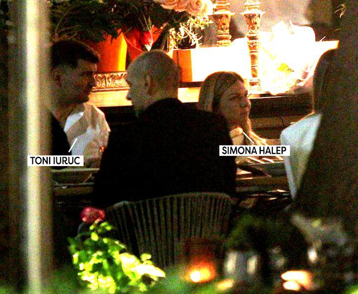 Simona Halep şi Toni Iuruc, la restaurant / Captură cancan.ro