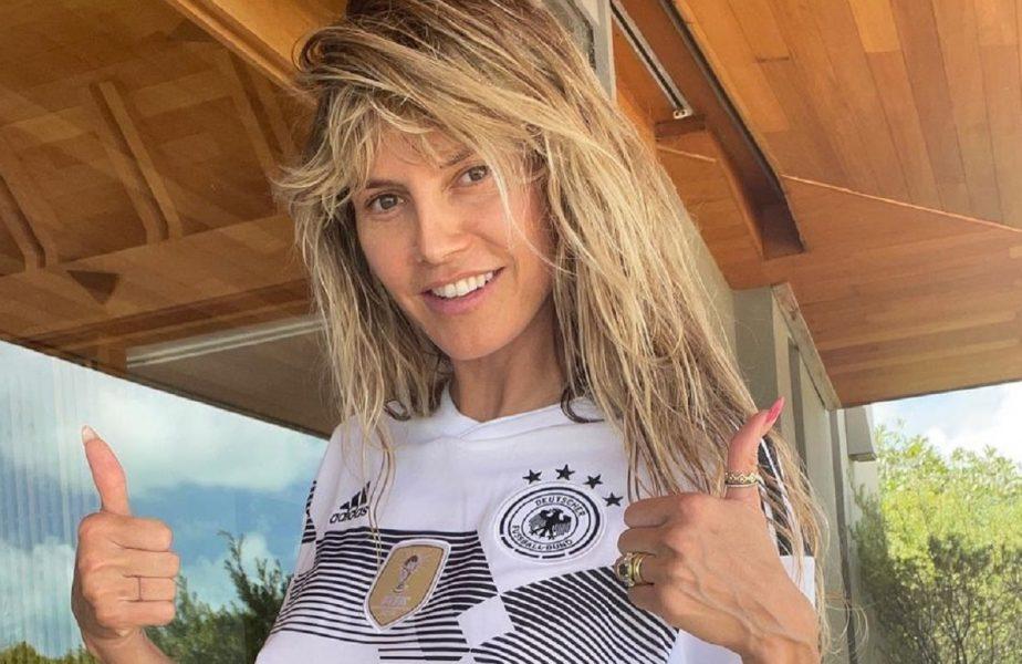 Euro 2020 | Heidi Klum îi susţine pe jucătorii Germaniei. Poza provocatoare cu care a aprins imaginaţia fanilor