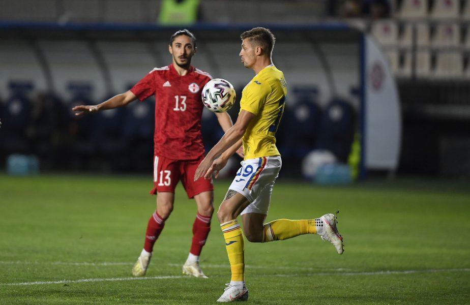 România – Georgia   Florin Tănase a văzut roşu în faţa ochilor. A fost eliminat după ce şi-a îmbrâncit un adversar