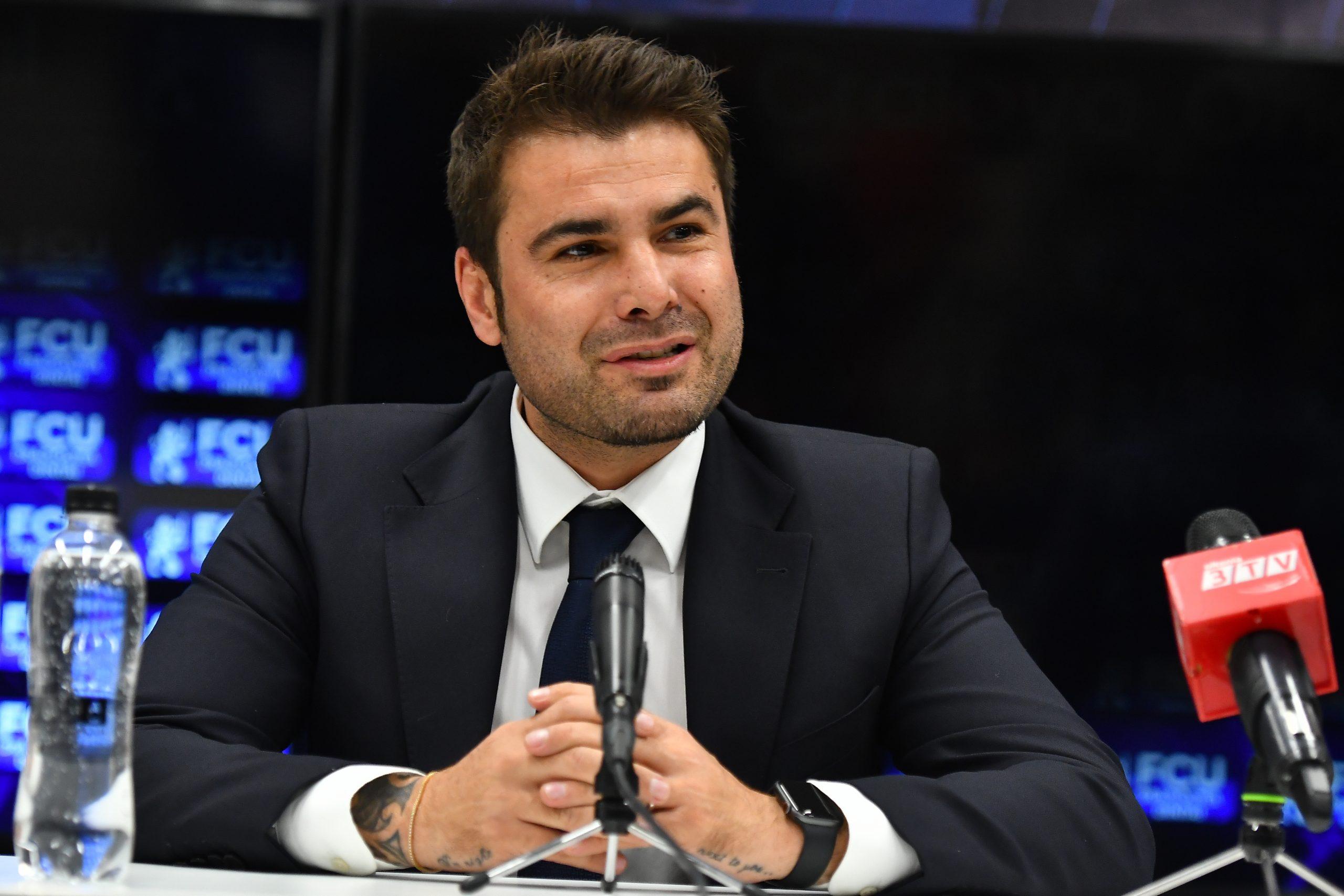 Adrian Mutu, la conferinţa de prezentare ca antrenor al lui FC U Craiova