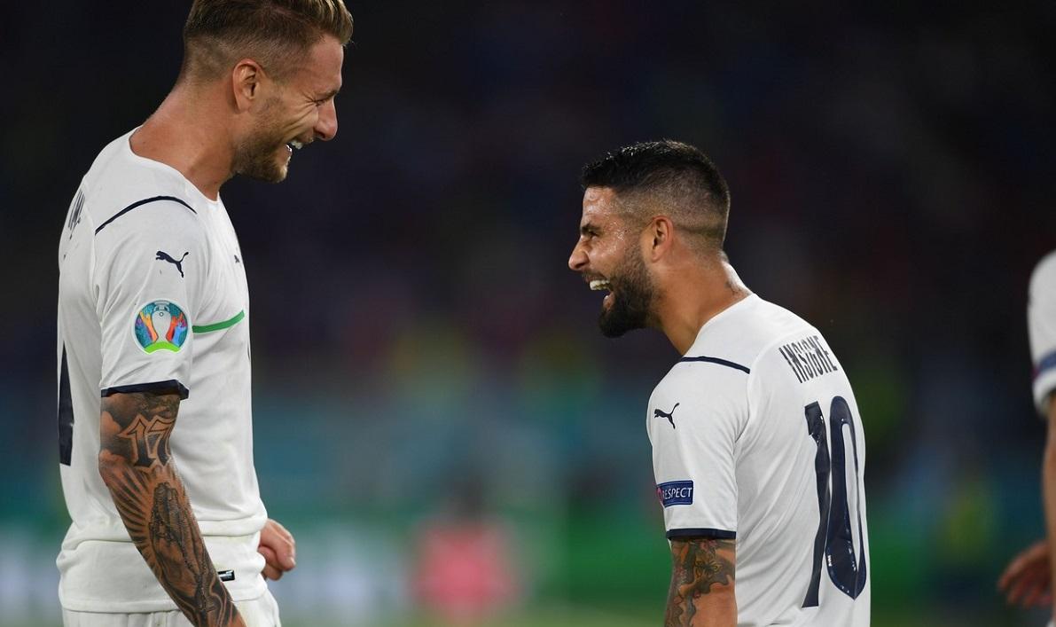 Ciro Immobile și Lorenzo Insigne, după Turcia - Italia 0-3