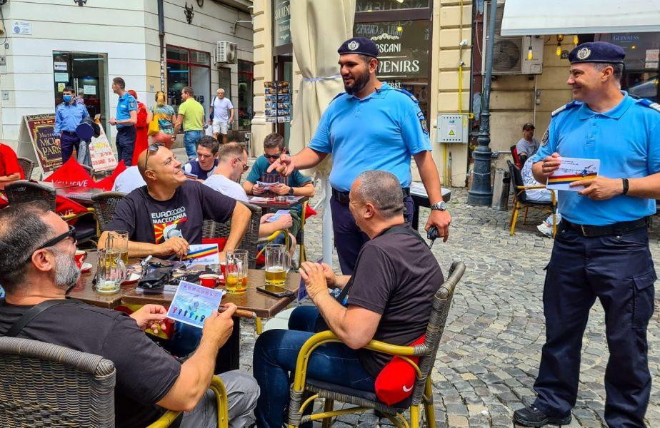 Euro 2020   Jandarmii, discuţii cu fanii străini înainte de Austria – Macedonia de Nord! Poliţiştii români, austrieci şi macedoneni au participat şi ei. Ce le-au transmis suporterilor