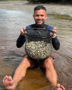 Junior Morais, vacanță la pescuit