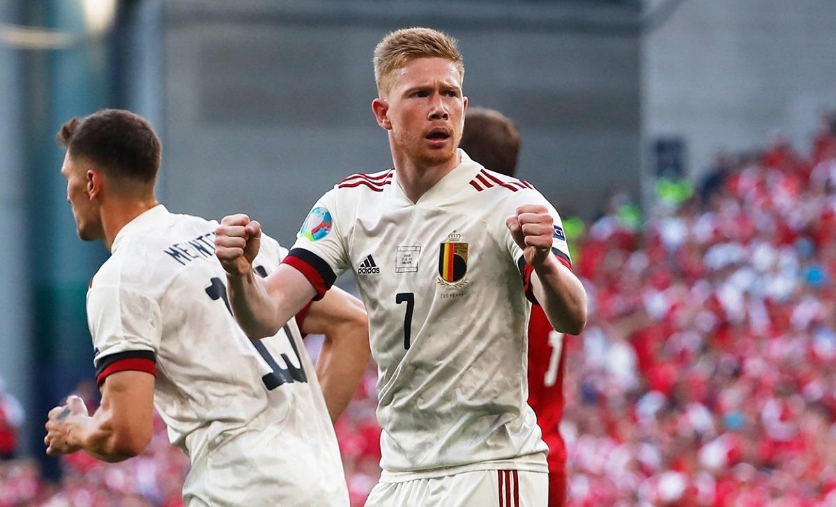 Kevin De Bruyne, în Danemarca - Belgia 1-2, de la Euro 2020