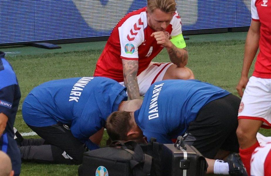 """Simon Kjaer, discurs emoționant înainte de Danemarca – Belgia: """"Vom juca cu Eriksen în inimile noastre!"""" + Starul lui Inter, pe masa de operație"""