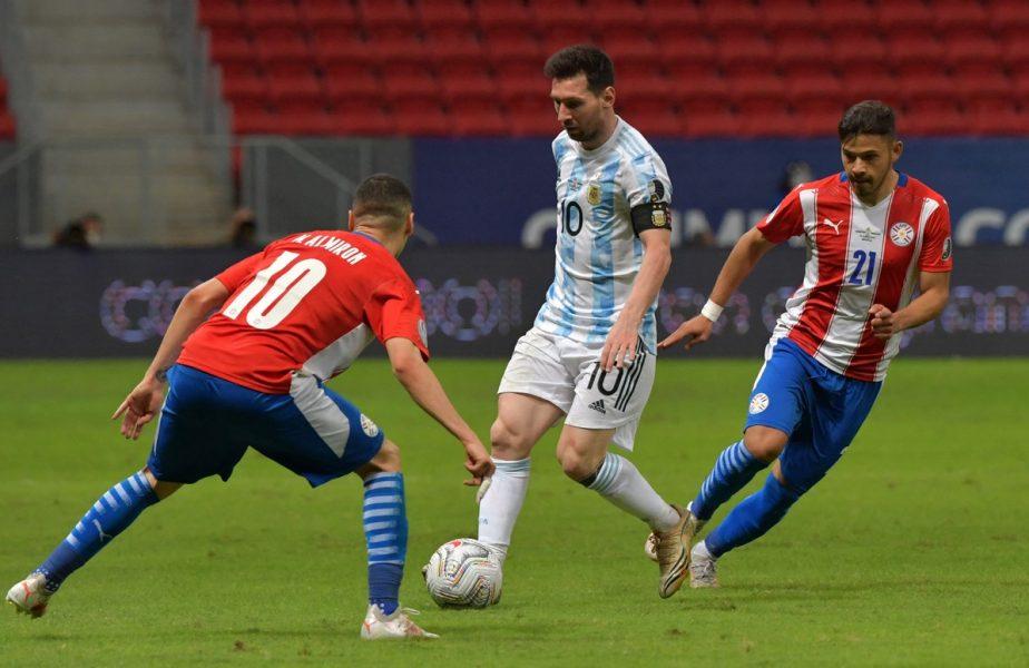 Leo Messi a făcut spectacol la Copa America! Căpitanul Argentinei s-a distrat cu apărarea lui Paraguay şi a scris istorie VIDEO + Luis Suarez şi Edinson Cavani, salvaţi de un autogol