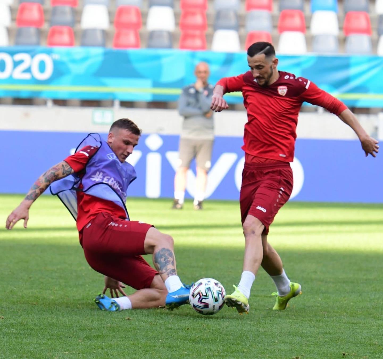EURO 2020 | Macedonia de Nord s-a antrenat pe stadionul Ghencea! Ce mesaj a fost afişat pe tabelă + Cum arată gazonul