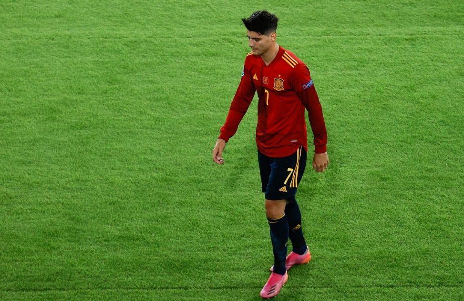 Spania, campioana ratărilor la Euro 2020! Alvaro Morata a irosit al doilea penalty al ibericilor de la turneul final
