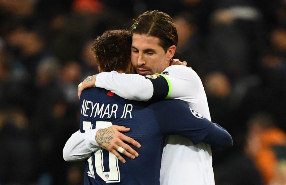 Neymar, implicat în transferul lui Sergio Ramos la PSG! Brazilianul îl aşteaptă pe legendarul fundaş cu braţele deschise la Paris. Anunţul făcut de presa din Spania