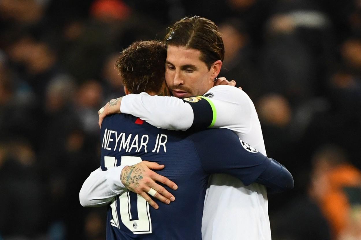 Sergio Ramos şi Neymar