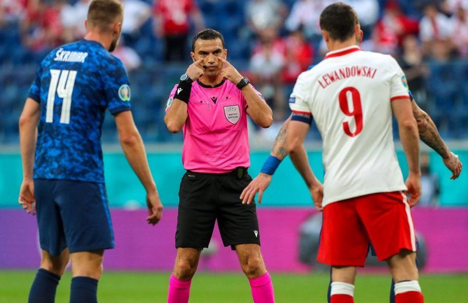 Euro 2020 | Ovidiu Haţegan va arbitra una dintre favoritele la câştigarea trofeului. Meciul de top la care l-a delegat UEFA