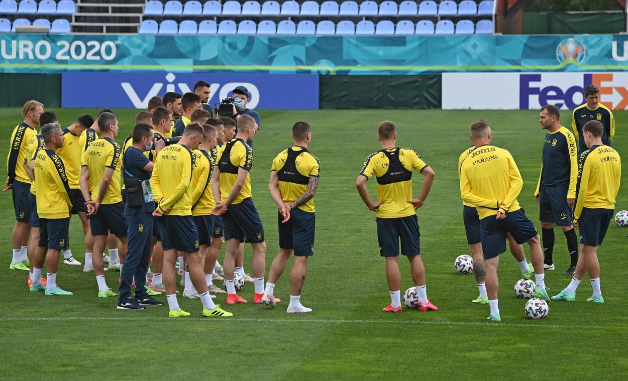 Ucraina, la Euro 2020, antrenament