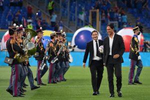 Alessandro Nesta şi Francesco Totti înainte de Italia - Turcia, de la Euro 2020