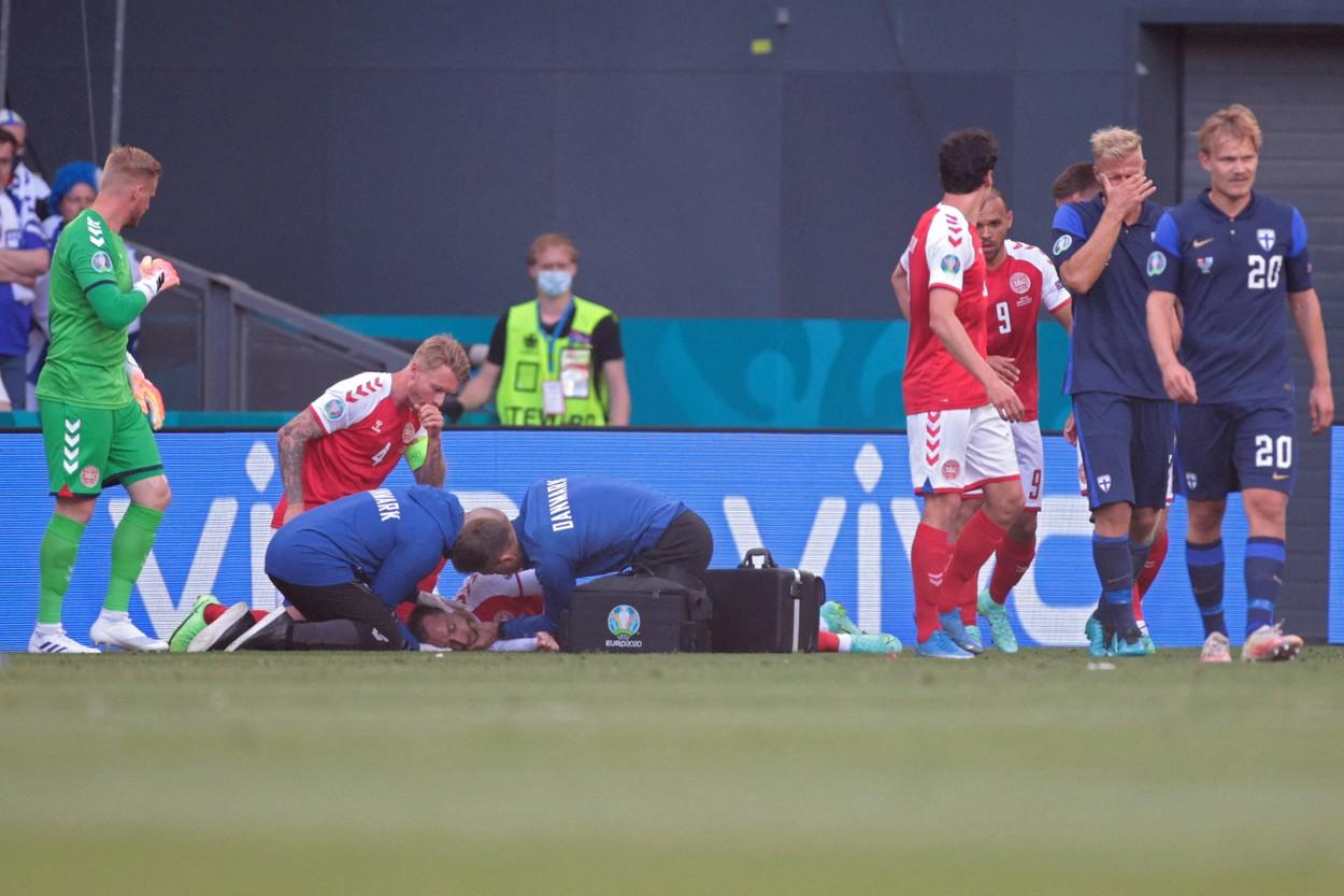 Christian Eriksen, momente dramatice la Euro 2020 / Foto: Profimedia