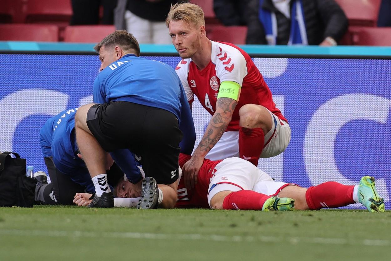 Christian Eriksen, momente dramatice în Danemarca - Finlanda de la Euro 2020