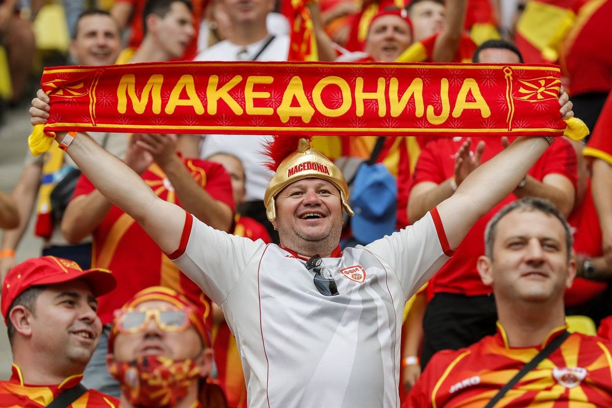 Show în tribunele Arenei Naţionale la Ucraina - Macedonia de Nord / Profimedia