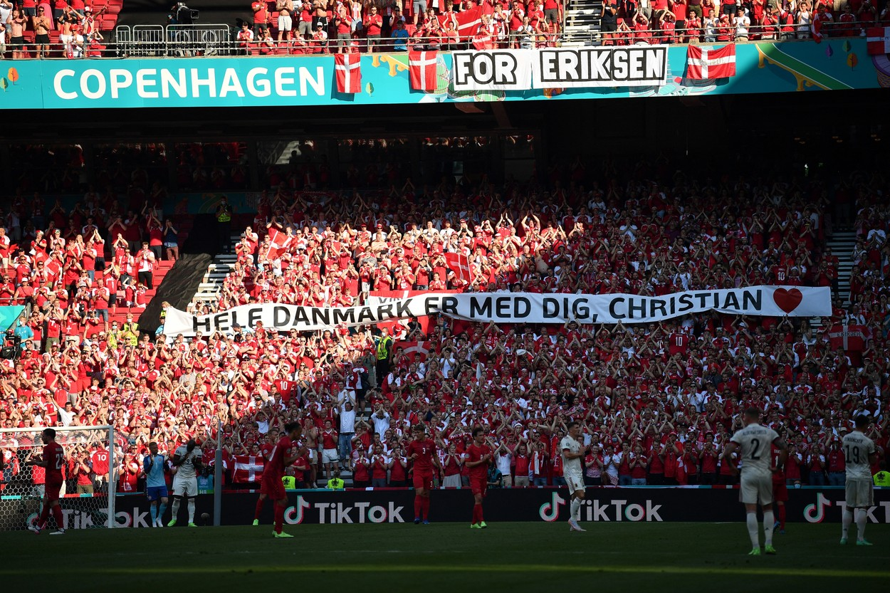 Danemarca - Belgia, întrerupt pentru Christian Eriksen