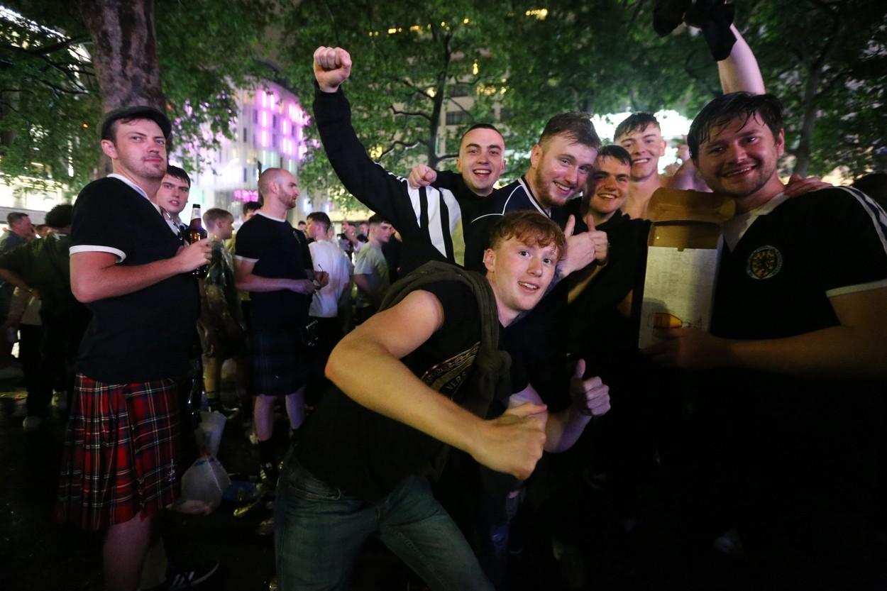 Fani scoţieni la Londra / Foto: Profimedia