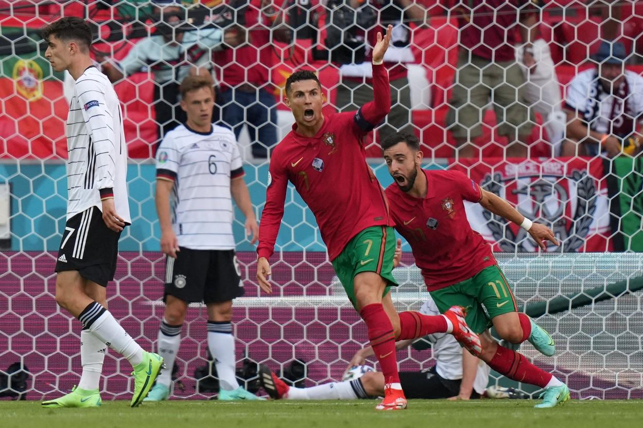 Cristiano Ronaldo, autorul unui gol în Portugalia - Germania 2-4, de la Euro 2020
