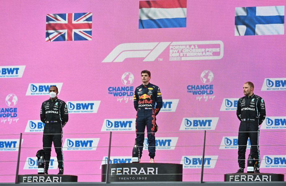 """Max Verstappen a câştigat Marele Premiu al Stiriei. Lewis Hamilton, resemnat: """"Am încercat să ţin pasul cu acei băieţi"""""""