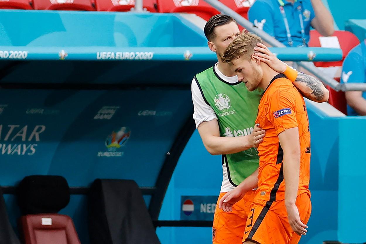 Matthijs De Ligt, eliminat în meciul dintre Olanda şi Cehia din optimile de finală de la Euro 2020