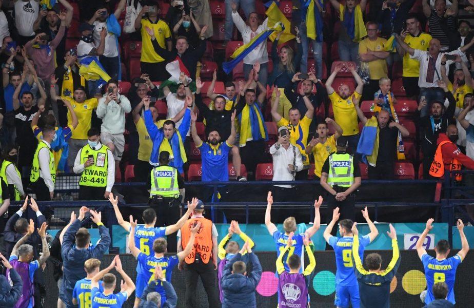 EURO  2020 | Un fan în tricoul Rusiei, gest nebun la Glasgow! Ce a păţit după ce a mers între fanii Ucrainei