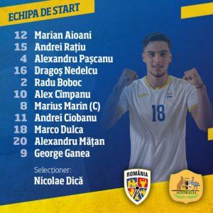 România U23, echipa de start pentru meciul cu Australia U23