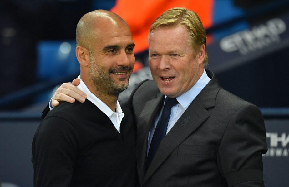 Pep Guardiola şi Ronald Koeman, întâlnire de gradul zero! Ipostaza inedită în care au fost surprinşi antrenorii de la Manchester City şi Barcelona