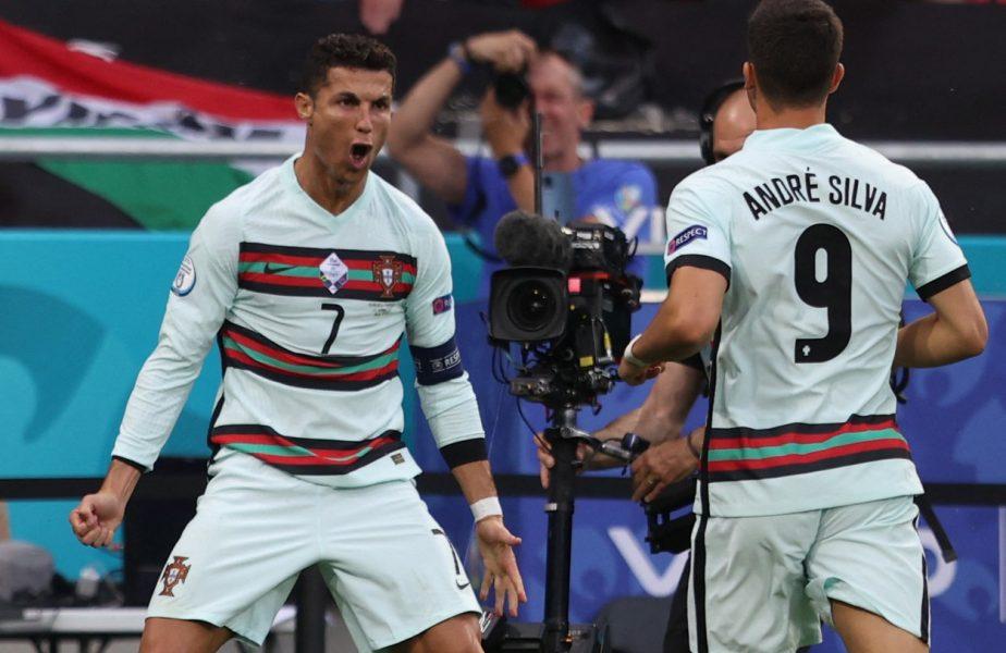 EURO 2020 | Cristiano Ronaldo, de neoprit! Starul portughez, gol în premieră împotriva Germaniei. E tot mai aproape de un record istoric! VIDEO