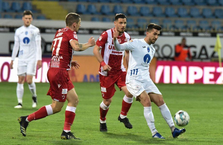 Ronaldo de România! Deaconu, one-man show în Gaz Metan – Dinamo. Două goluri uluitoare în poarta lui Eșanu