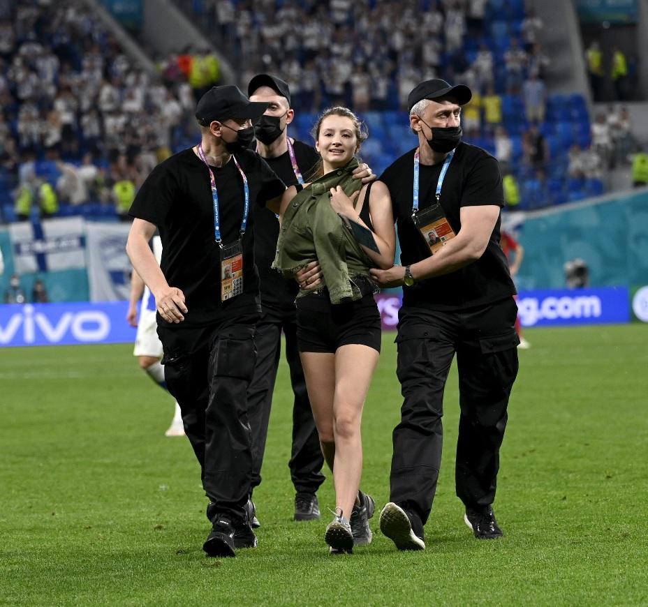 A intrat pe teren în timpul meciului Belgia - Finlanda / Profimediaimages