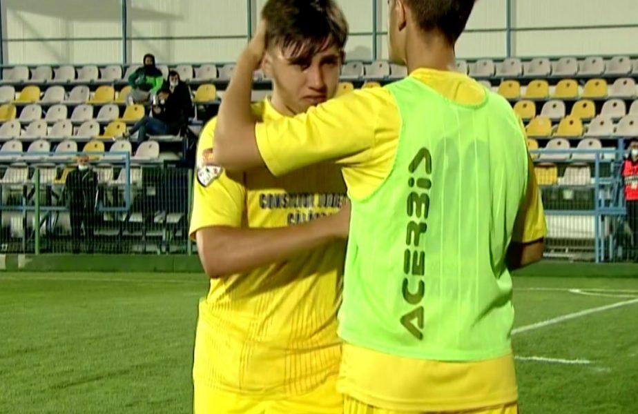 FC Voluntari – Dunărea Călărași | Puștiul Robert Sălceanu a început să plângă după ce a fost eliminat