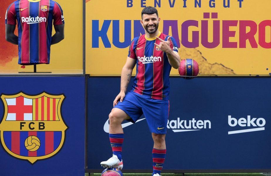 """Sergio Aguero a fost prezentat oficial la FC Barcelona! """"O bucurie imensă"""". Imagini de senzaţie de pe Camp Nou"""