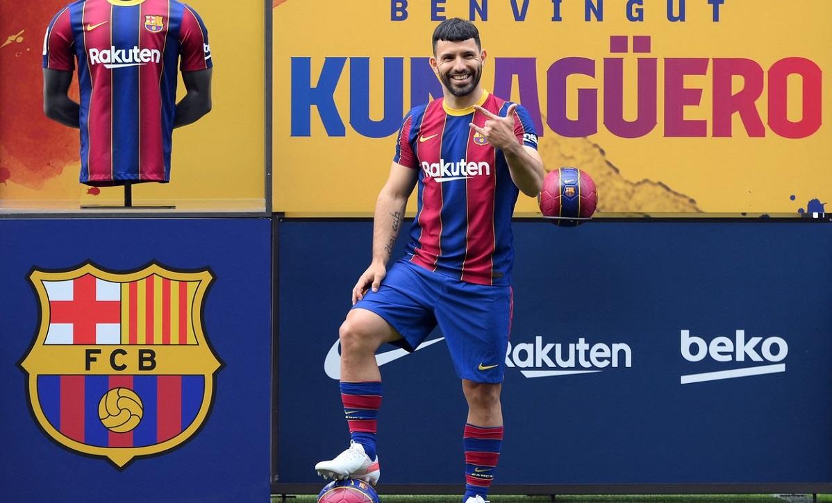 Sergio Aguero a fost prezentat oficial la FC Barcelona!