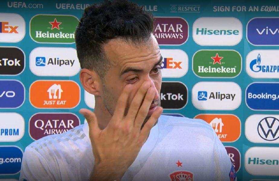 Sergio Busquets a început să plângă după Slovacia - Spania 0-5