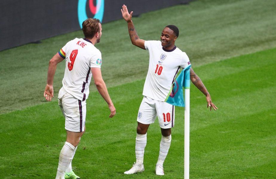 Raheem Sterling, one-man show la Euro 2020! Până la golul lui Kane, atacantul lui Guardiola era unicul marcator al Angliei la turneul final