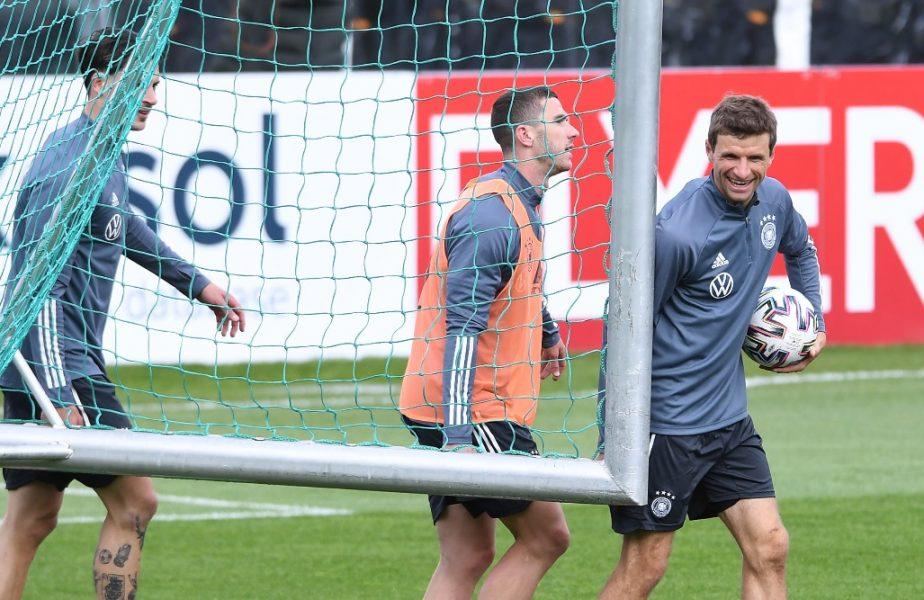 Ce i-a putut spune Thomas Muller lui Robin Gosens după înlocuirea din minutul 62! Gosens l-a eclipsat pe Ronaldo, în Portugalia – Germania 2-4