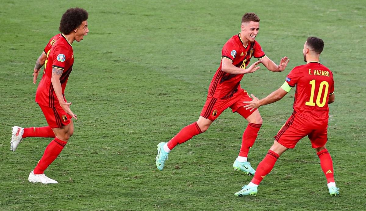 """Thorgan Hazard a înscris o """"bijuterie"""" de gol în Belgia - Portugalia"""