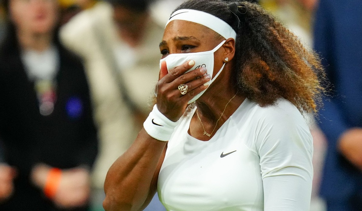 Serena Williams, în lacrimi