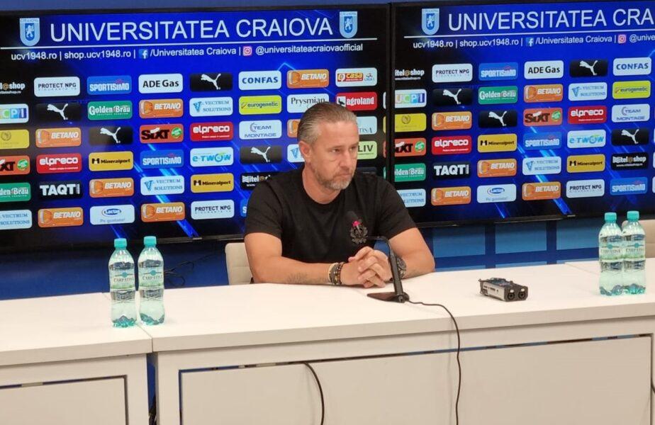 """Laurențiu Reghecampf, prezentat oficial la Universitatea Craiova: """"Vreau să câştigăm campionatul!"""" Sorin Cârţu, în culmea fericirii: """"Este omul potrivit!"""""""