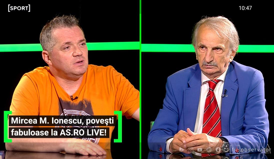 Mircea M. Ionescu a fost invitat la AS.ro LIVE