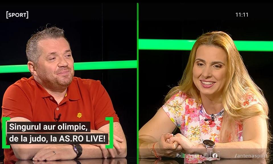 Alina DUmitru a fost invitată la AS.ro LIVE