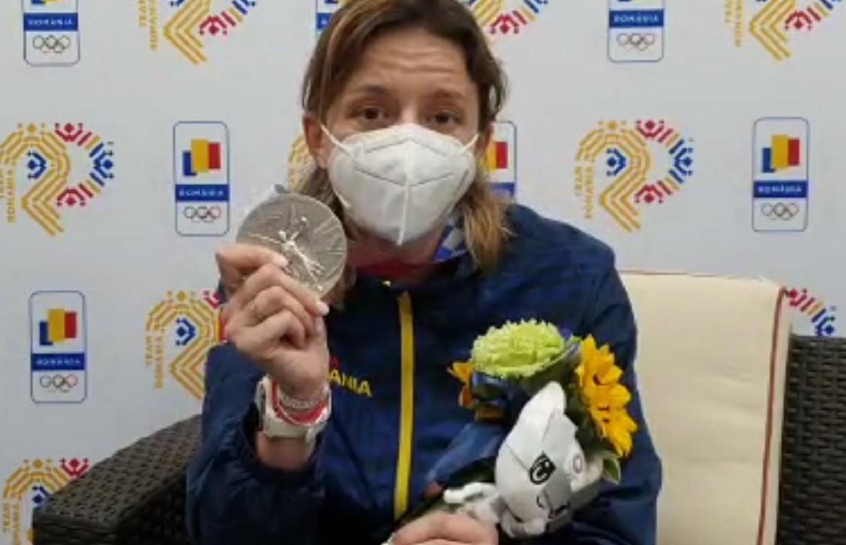 Ana Maria Popescu, cu medalia cucerit la Jocurile Olimpice 2020