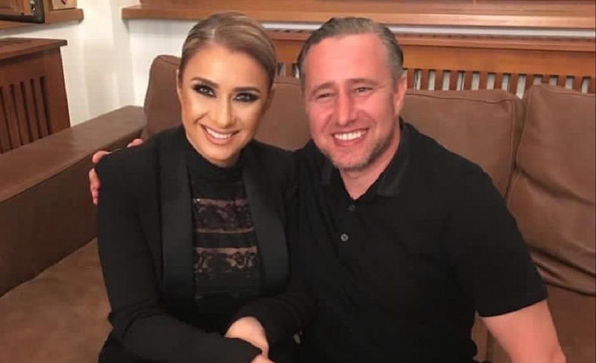 Anamaria Prodan şi Laurenţiu Reghecampf, zâmbitori