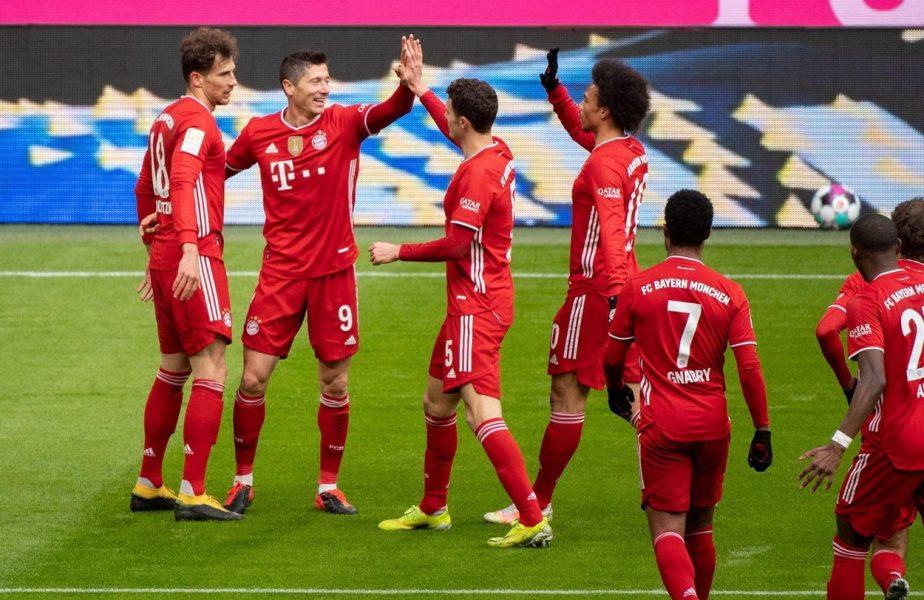 Bayern, o adevărată mașinărie de goluri! Bavarezii au marcat în 74 de meciuri consecutive şi au stabilit un nou record. Robert Lewandowski, de neoprit!