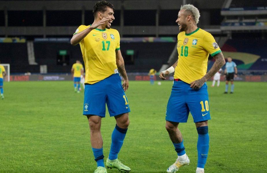 """Brazilia, calificare dramatică în finala Copa America, după o fază magică! Neymar îl așteaptă și pe prietenul Messi: """"Vreau să joc cu Argentina!"""""""