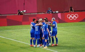 Tricolorii se bucură după primul gol cu Honduras