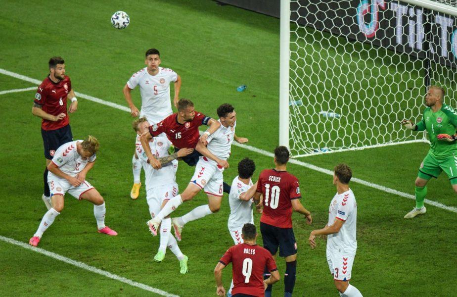 Cehia – Danemarca 1-2 | Anchetă deschisă de UEFA după un incident la Baku